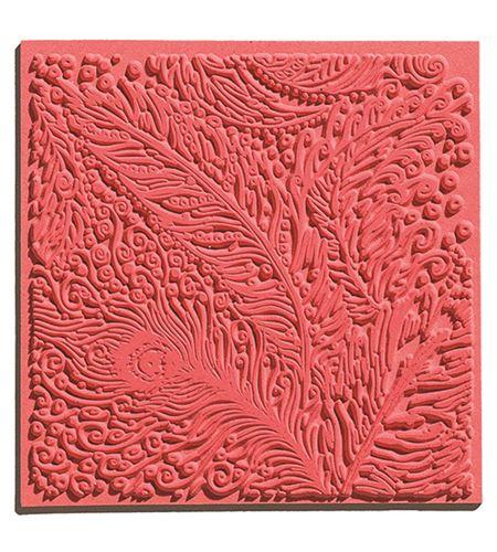 Textura arcilla polimérica cernit 9x9 pavo real - CE95006