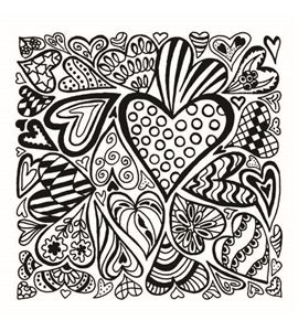 Textura arcilla polimérica cernit 9x9 corazones - CE95015