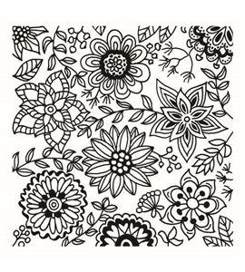 Textura arcilla polimérica cernit 9x9 flores - CE95016