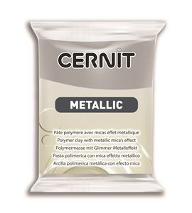Arcilla polimérica cernit metallic 56gr plata - CE0870056080