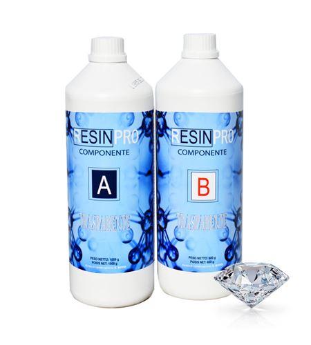 Resina epoxi multiusos transparente 1,6 kg - RESINA-EPOSSIDICA-TRASPARENTE-1600_GR