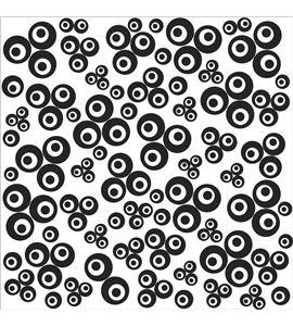 Textura arcilla polimérica cernit 9x9 tréboles contemporáneos - CE95027