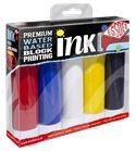 Conjunto de tinta para lino grabado prémium 5 colores primarios