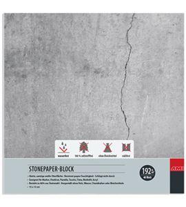 Bloc papel de piedra 40 hojas 192gr 15cm x 15cm - 182148