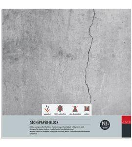 Bloc papel de piedra 40 hojas 192gr 20cm x 20cm - 182149