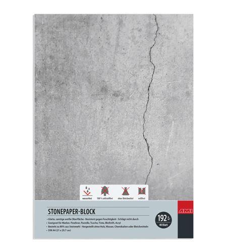 Bloc papel de piedra 40 hojas 192gr a4 210mm x 297mm - 182145