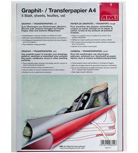 Papel de calco color rojo a4 297mm x 210mm - AM-152311