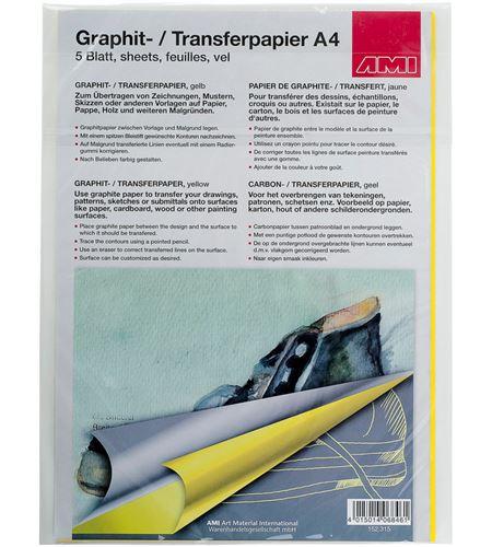 Papel de calco color amarillo a4 297mm x 210mm 5u. - AM-152315