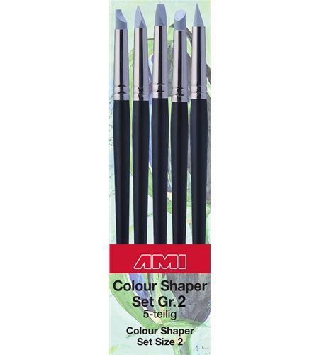 Estuche de pinceles de silicona nº2 de 5 formas diferentes - AM-575870