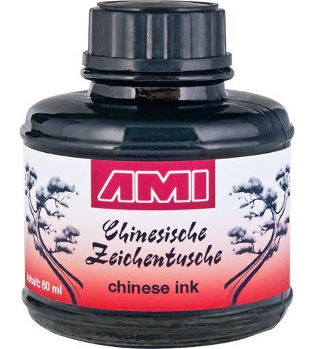 Tinta china premium color negro 60ml - AM-578009