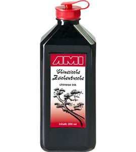Tinta china premium color negro 250ml - AM-578013