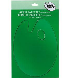 Paleta de pintura artística transparente 23x30cm oval - AM-575453