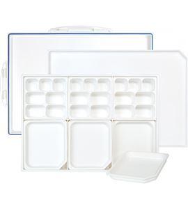 Paleta caja hermética antiadherente para pintura acrílica - 575210
