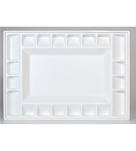 Paleta caja hermética antiadherente para pintura acrílica - AM-575212