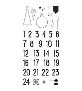 Sellos transparentes 34 unidades - calendario de adviento nórdico - 50222000_PF