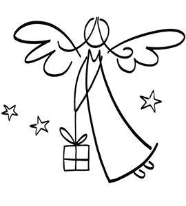 Sello de madera navidad ángel celestial - 29214000_PF