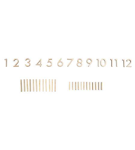Números de madera para reloj - 69247505_PF