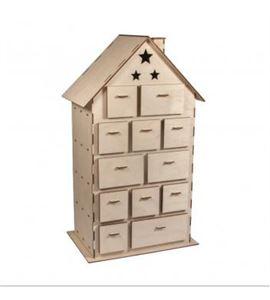 Casa calendario adviento madera 25,5x17,5x45,5cm - 62910505