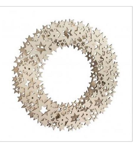 Corona de estrellas de madera - 62902505