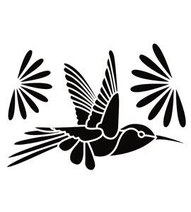 Plantilla / stencil a4 - colibrí - 15050022