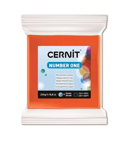 Arcilla polimérica cernit number one 250gr naranja - CE0900250752