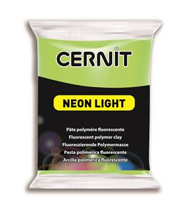 Arcilla polimérica cernit neon 56gr verde - CE0930056600