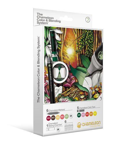 6 rotuladores + 6 tops chameleon - set 7 - CS6607