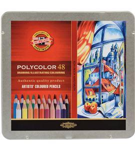 Estuche metálico 48 lápices polycolor koh-i-noor - KN362825