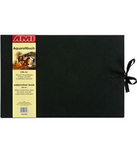 Bloc de acuarela de lujo a4 40 hojas 180gr/m2 tapa lino - AM-185932