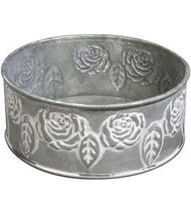 Cuenco de metal con motivo de rosas - 56564000