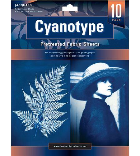 Cianotipia 10 hojas textiles preparadas listas para usar 216 mm x 279 mm - JCY1110