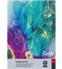 Papel tipo yupo tinta alcohol bloc 15 hojas 525gr 34x48cm