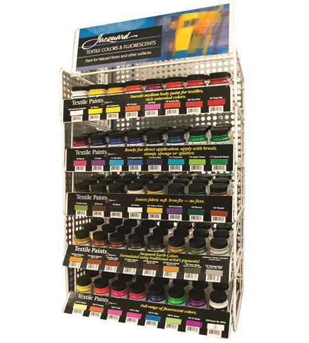 Expositor jacquard textile color 3 frascos por color. - JAC105N_TEXTILE COLOR RACK_W-FILLER