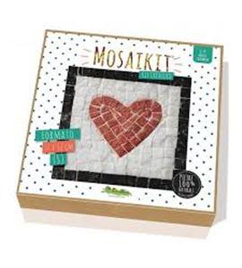 Kit de mosaico piedras naturales marco corazón - AL-59600185