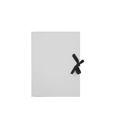 Carpeta de dibujo de cartón gris con lazo negro 50 x 70 cm - 677147