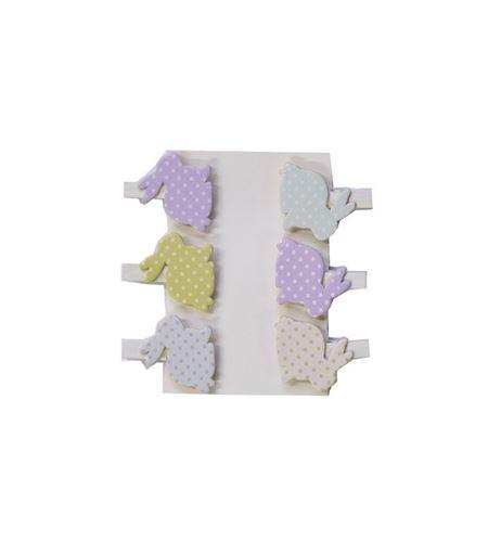 Pinzas de madera - conejos - 14001919