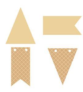 Mini siluetas de madera - banderines - 14001776