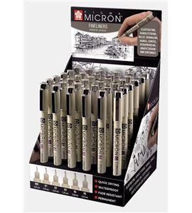 Expositor 36 rotuladores pigma micron sakura negro - TA-CDXSDK36