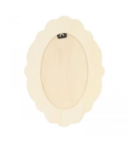 Marco ovalado sin barniz - 14001814