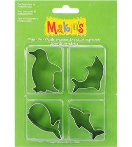 Cortador makin´s - animales marinos 4 pc. - 37101