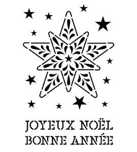 Plantilla / stencil - estrella - 15020027