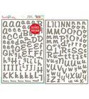 Plantilla / stencil reposicionable - alfabeto dear
