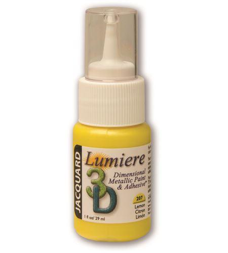 Pintura dimensional metálica lumiere 3d 29ml limón - JDP1207