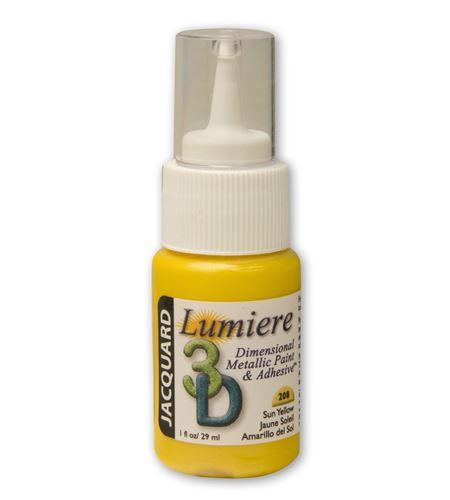 Pintura dimensional metálica lumiere 3d 29ml amarillo - JDP1208