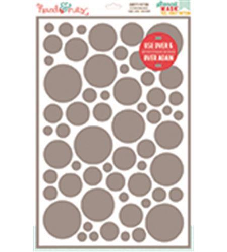Plantilla / stencil reposicionable - confetti - 15080009