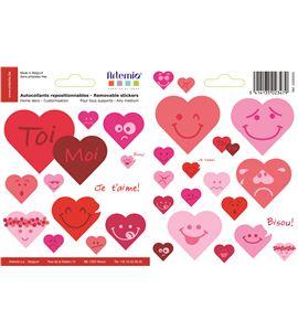 Adhesivos reposicionables - corazones - 22005002
