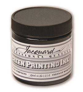 Tinta serigrafía profesional jacquard 118,29 ml negro - JSI1117