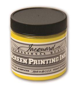 Tinta serigrafía profesional jacquard 118,29 ml amarillo - JSI1124