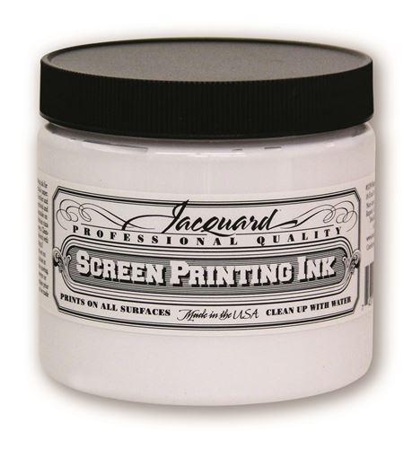 Tinta serigrafía profesional jacquard 473,18 ml blanco opaco - JSI3119