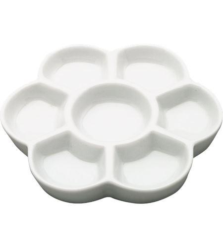 Paleta de mezclas de porcelana 7 huecos 15 cm - AM-575141